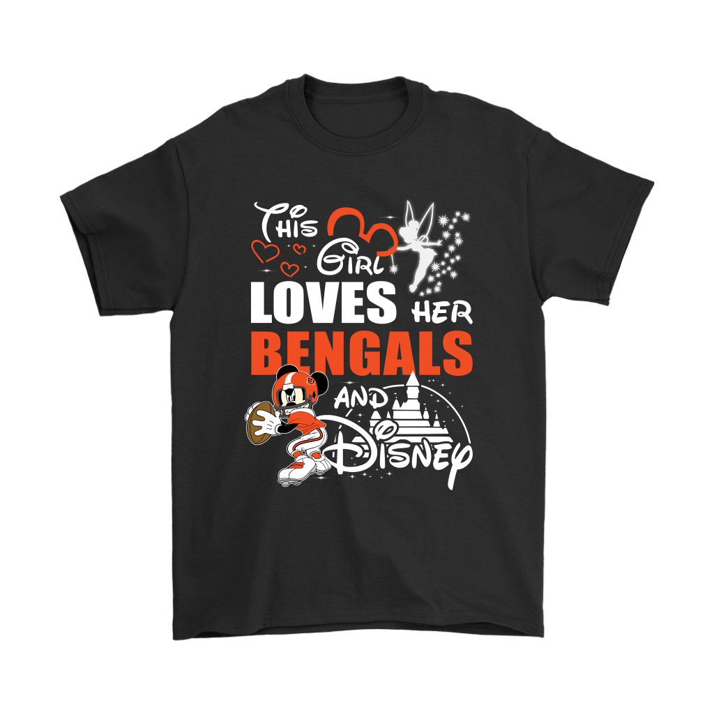 This Girl Loves Her Cincinnati Bengals And Mickey Disney Shirts 1
