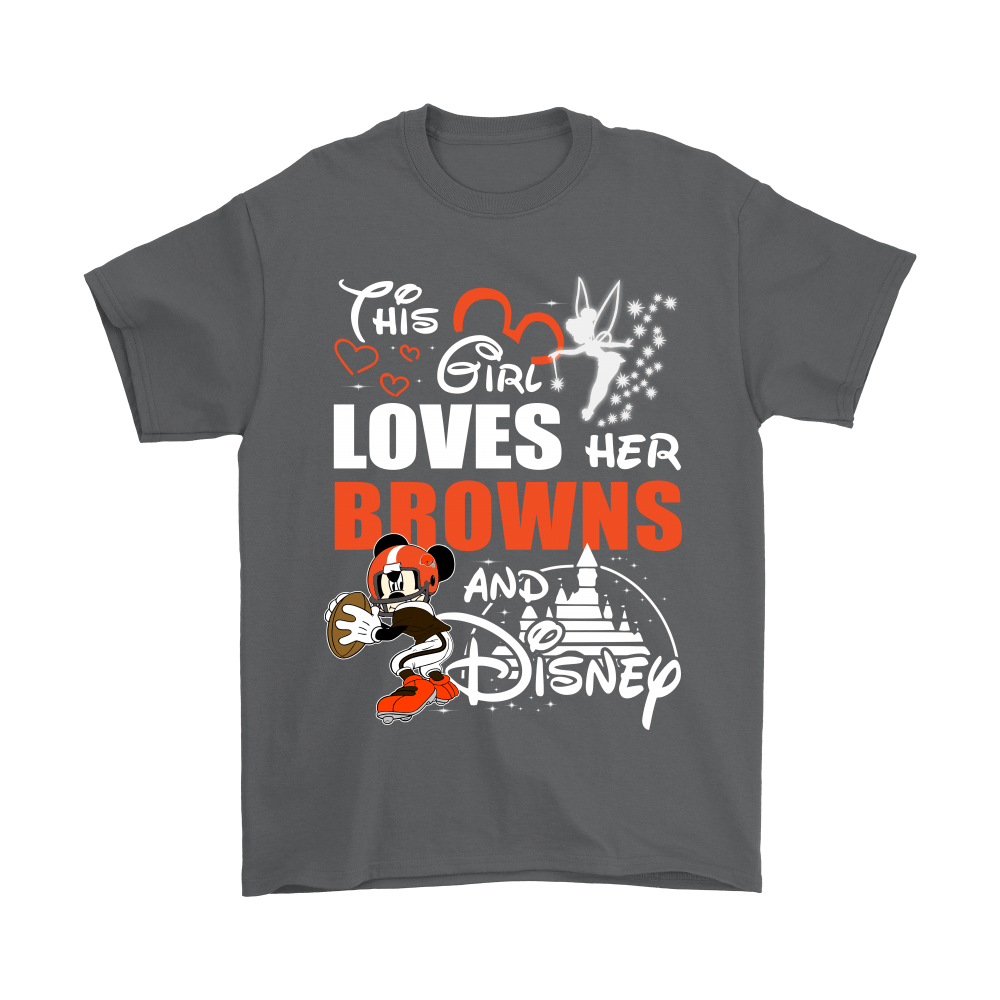 This Girl Loves Her Cleveland Browns And Mickey Disney Shirts 2