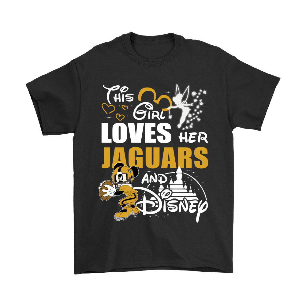 This Girl Loves Her Jacksonville Jaguars And Mickey Disney Shirts 1