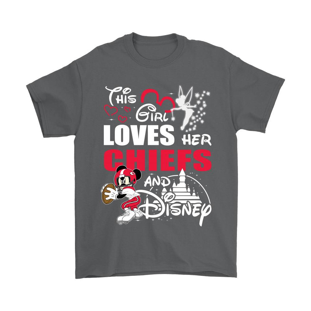 This Girl Loves Her Kansas City Chiefs And Mickey Disney Shirts 2