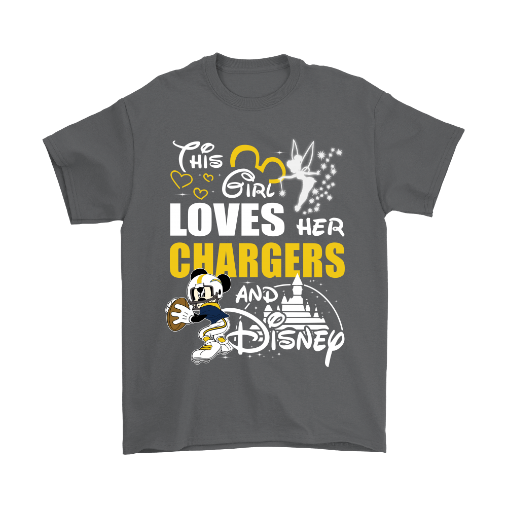 This Girl Loves Her Los Angeles Chargers And Mickey Disney Shirts 2