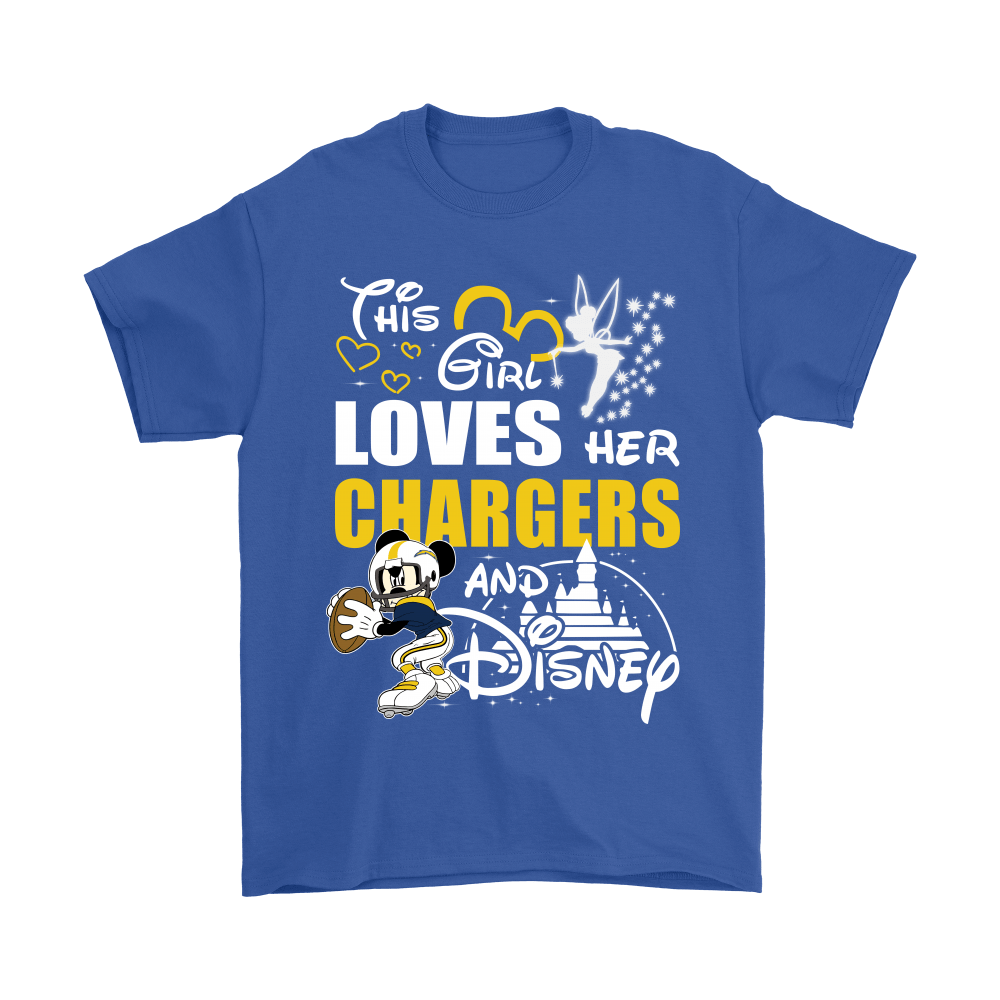 This Girl Loves Her Los Angeles Chargers And Mickey Disney Shirts 6