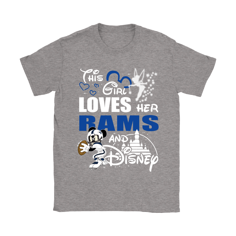 This Girl Loves Her Los Angeles Rams And Mickey Disney Shirts 12