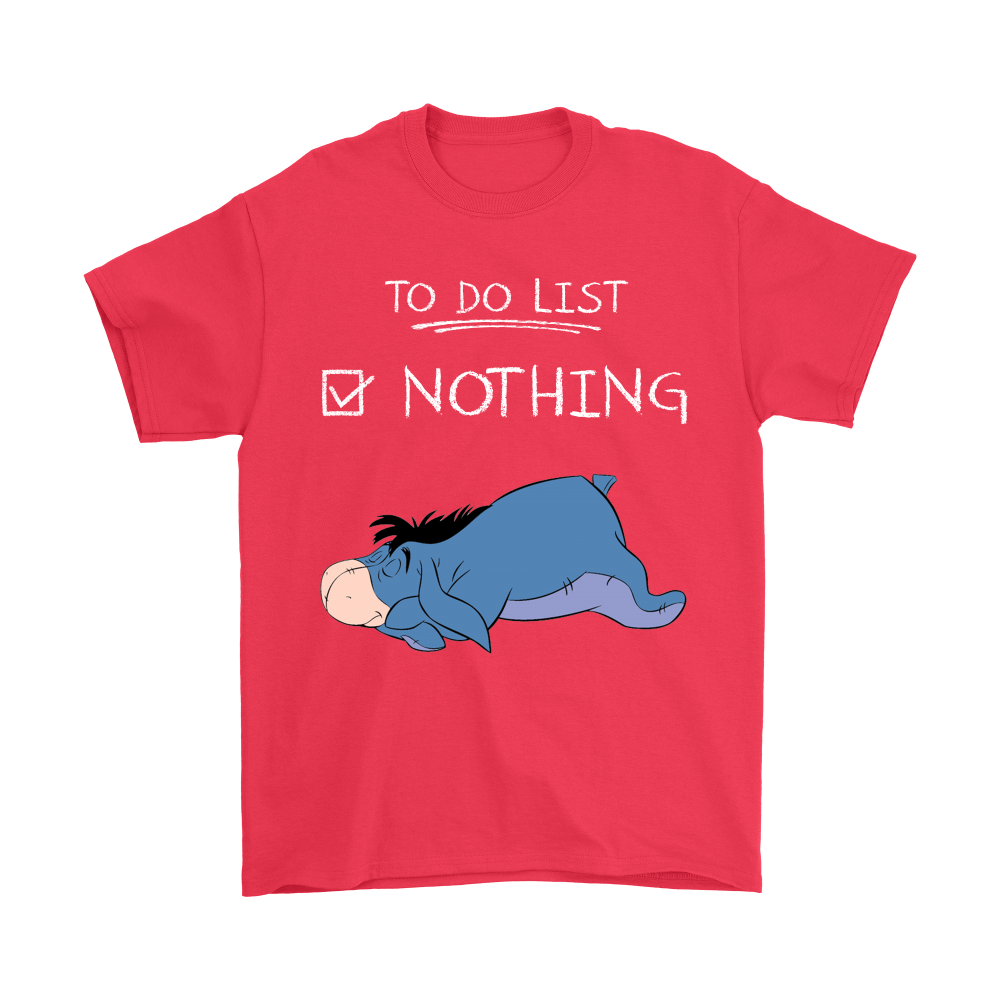 To Do List Nothing Eeyore Winnie The Pooh Shirts 5