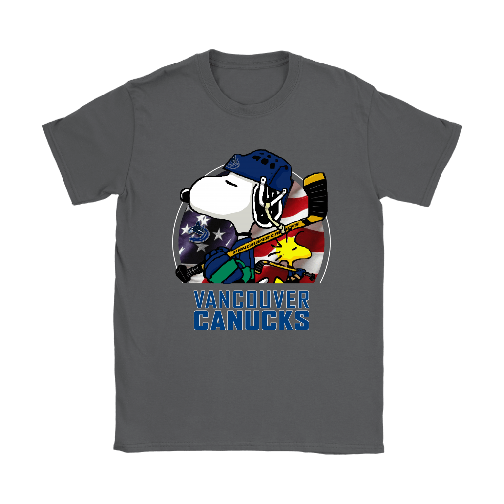 Vancouver Canucks Ice Hockey Snoopy And Woodstock NHL Shirts 8