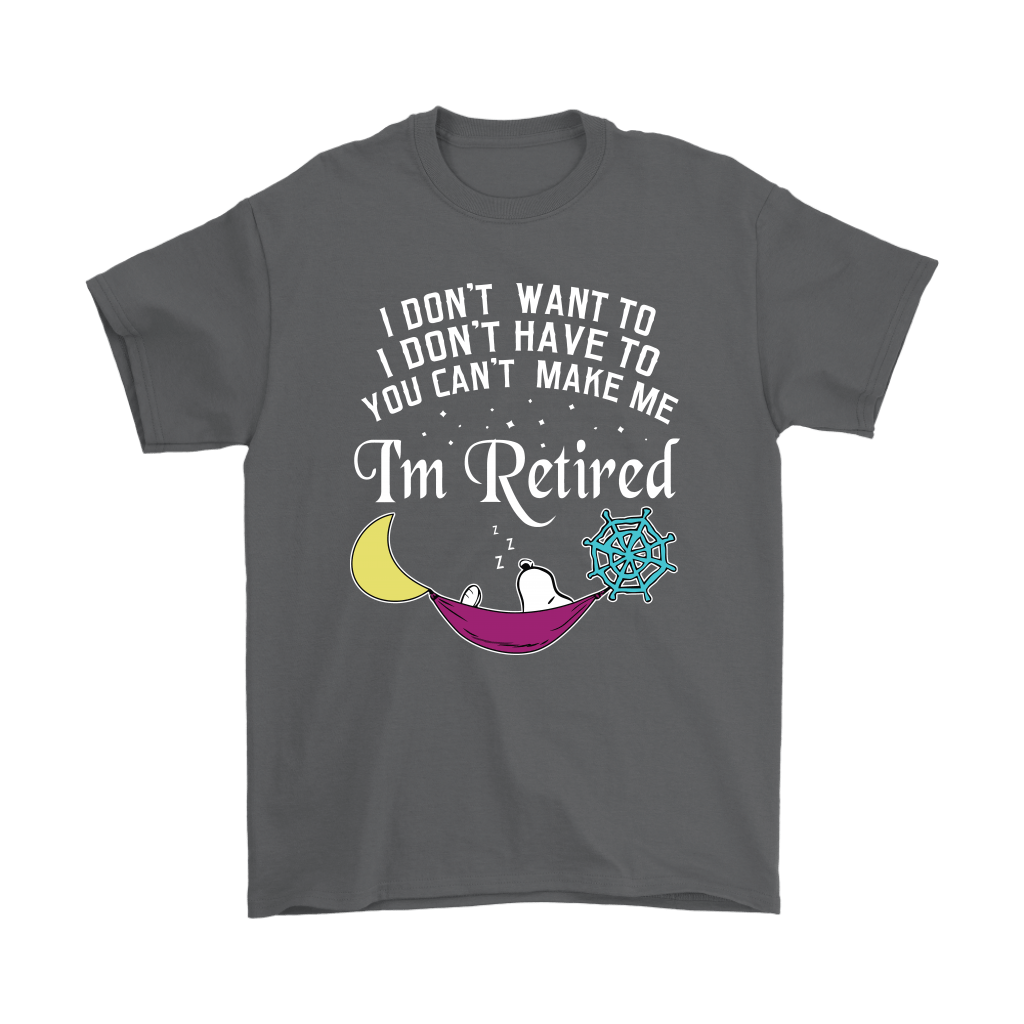 You Can't Make Me I'm Retired Let's Sleep Lazy Snoopy Shirts 2