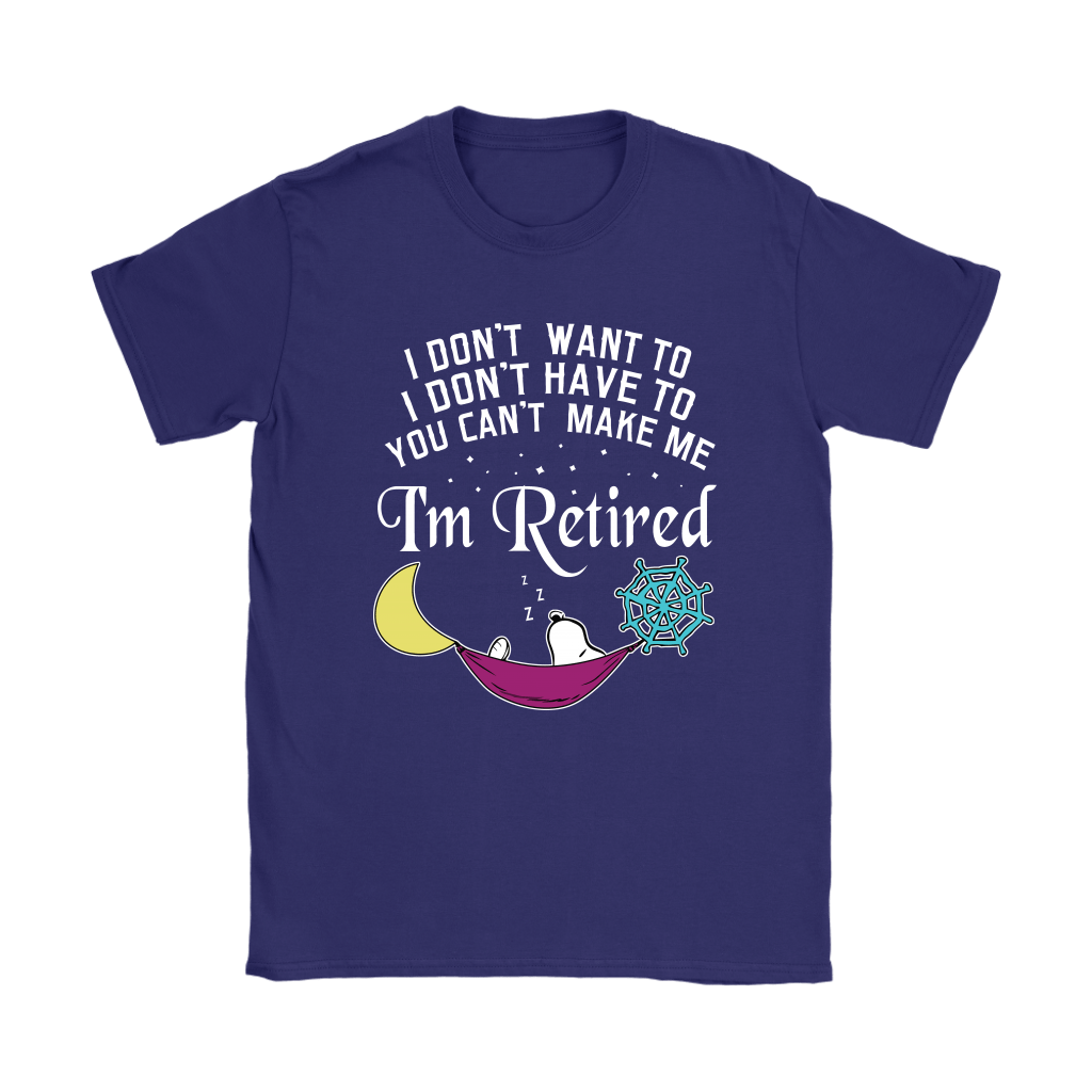 You Can't Make Me I'm Retired Let's Sleep Lazy Snoopy Shirts 9