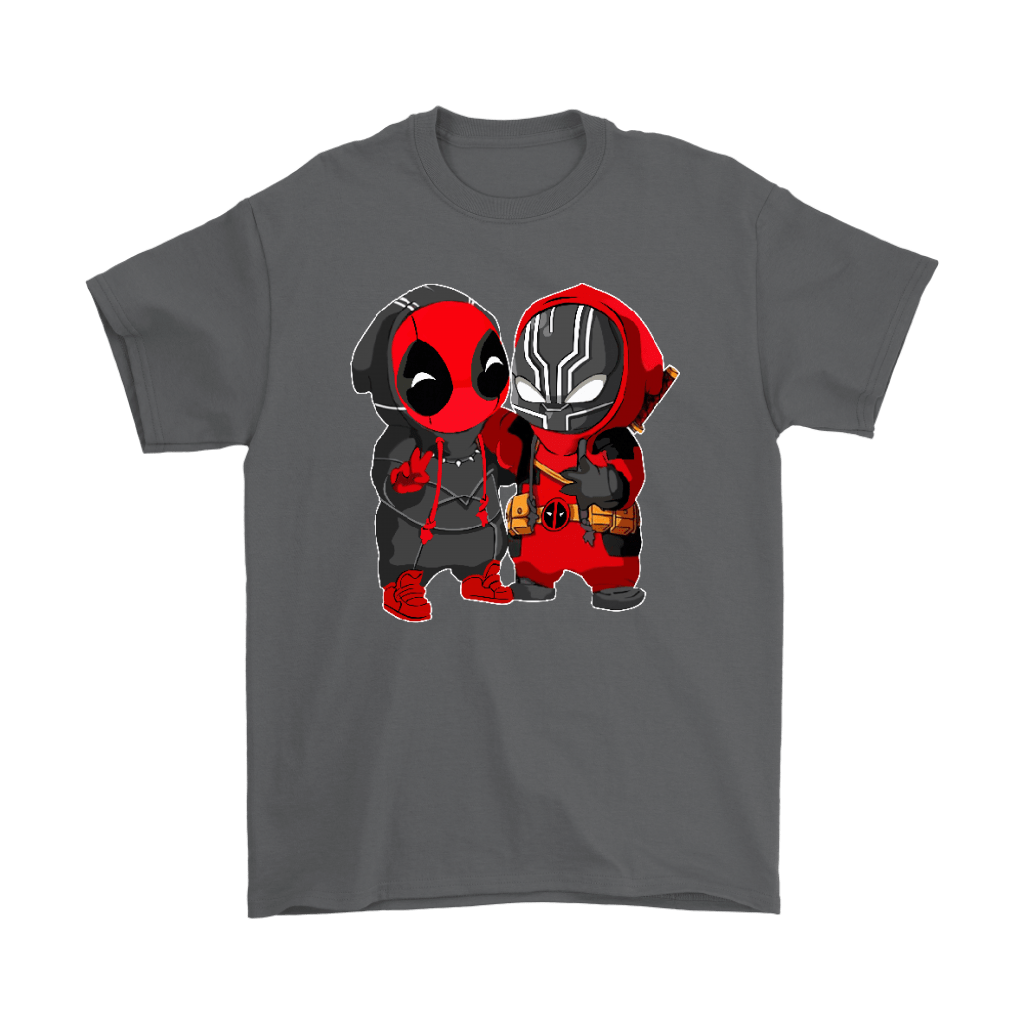 Baby Black Panther And Deadpool Costume Switch Cute Shirts 2