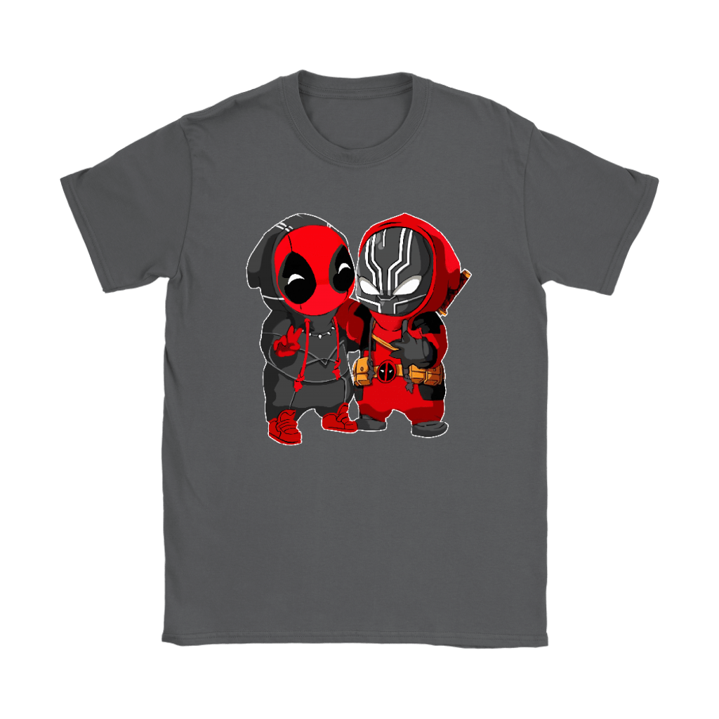 Baby Black Panther And Deadpool Costume Switch Cute Shirts 8