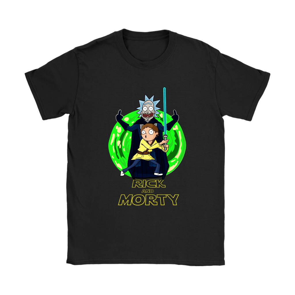 Rick And Morty Darth Vader And Luke Star Wars Mashup Shirts 7