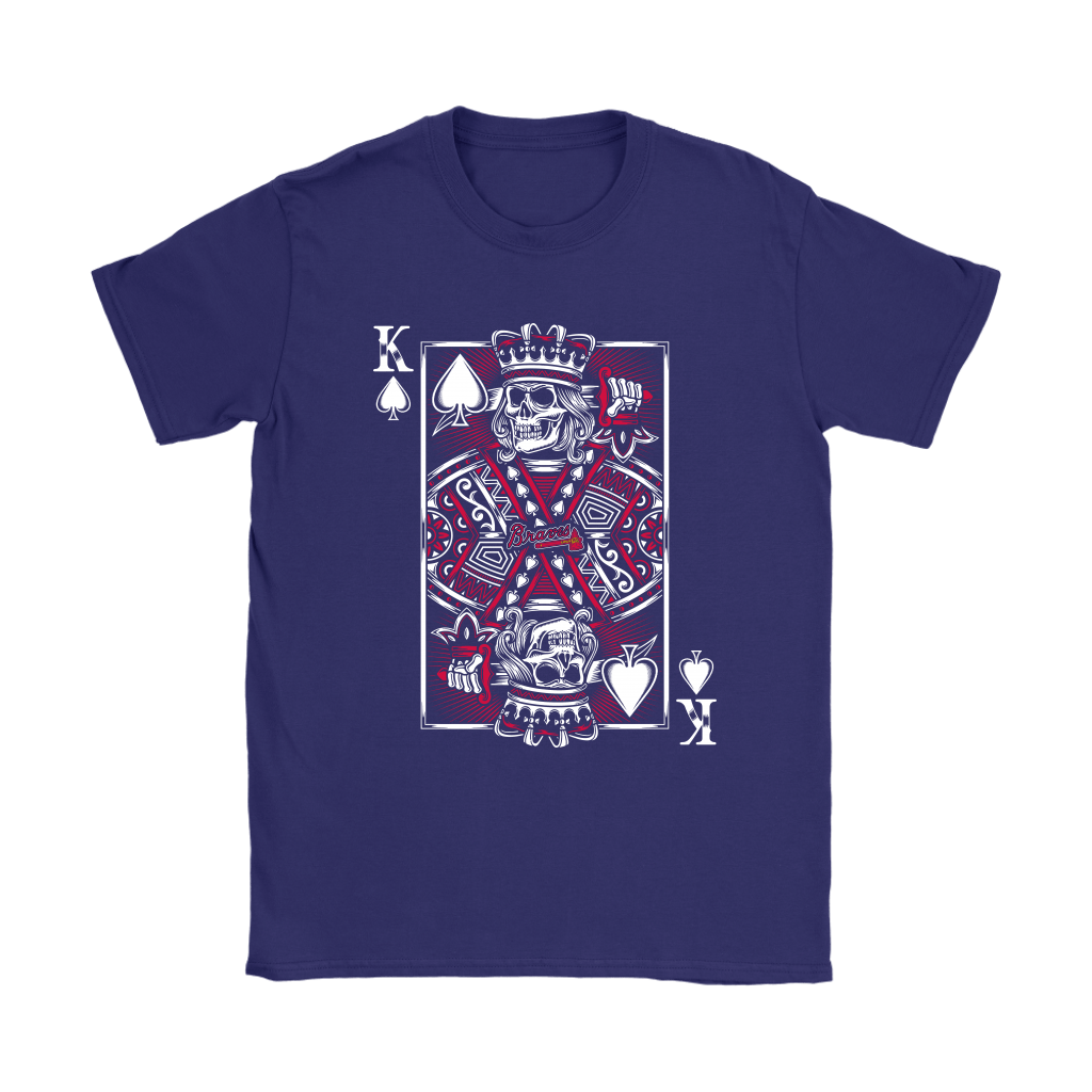 Atlanta Braves Spade King Of Death Card MLB Baseball Shirts 10