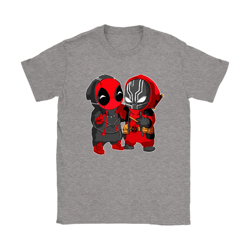 Baby Black Panther And Deadpool Costume Switch Cute Shirts 12