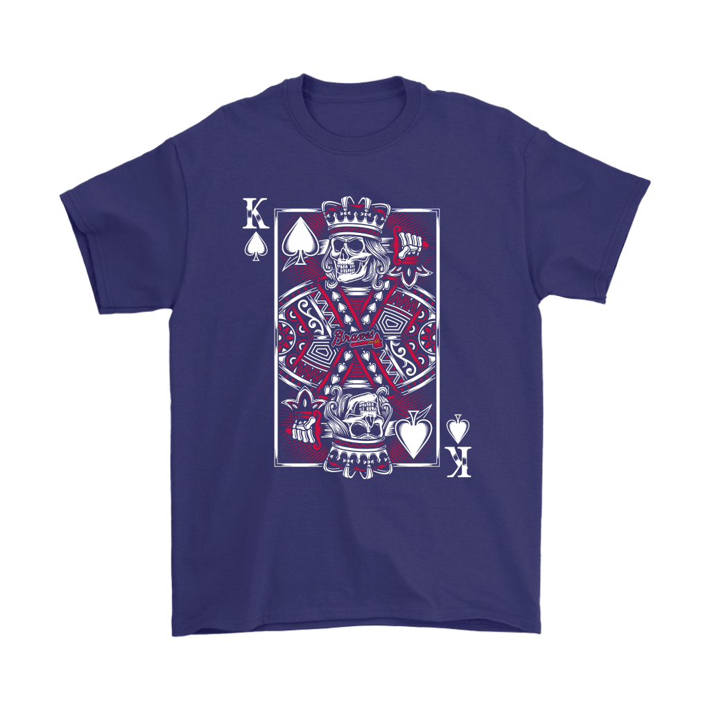 Atlanta Braves Spade King Of Death Card MLB Baseball Shirts 4