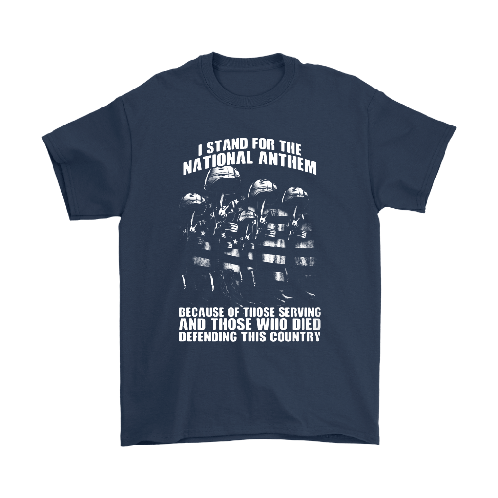 Veterans Stand For National Anthem Because Of Those Who Died Shirts 3
