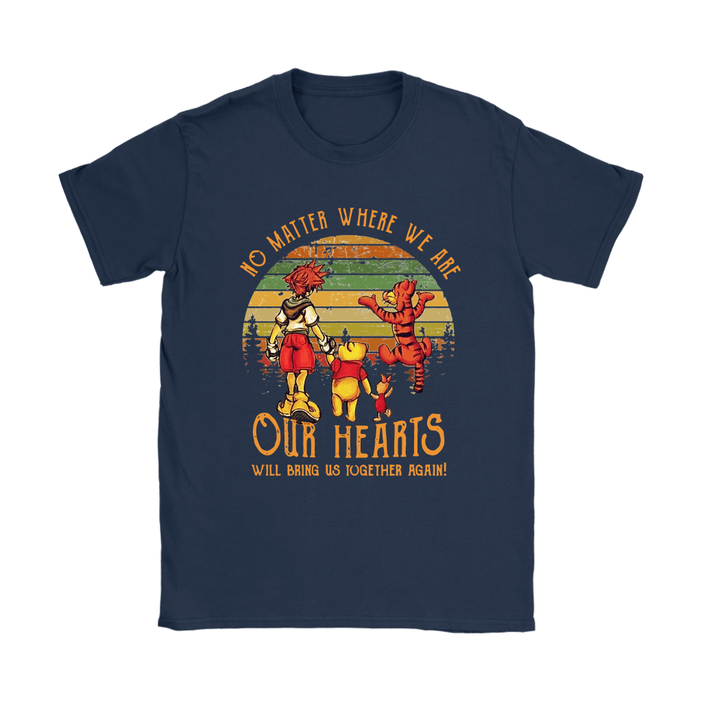 No Matter Where We Are Pooh And Friends Vintage Kingdom Heart Shirts 8