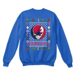 Atlanta Braves x Grateful Dead Christmas Ugly Sweater 12