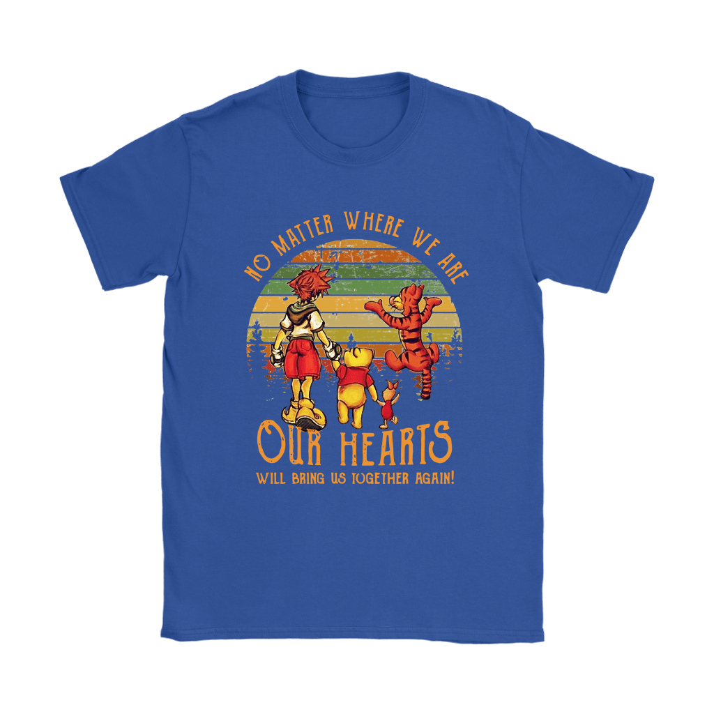 No Matter Where We Are Pooh And Friends Vintage Kingdom Heart Shirts 10