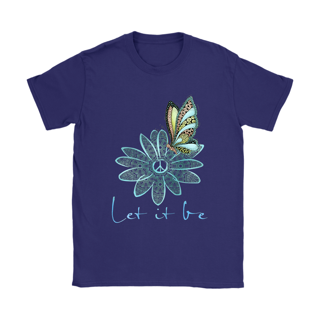 Flower And Butterfly Love And Peace Let It Be The Beatles Shirts 8