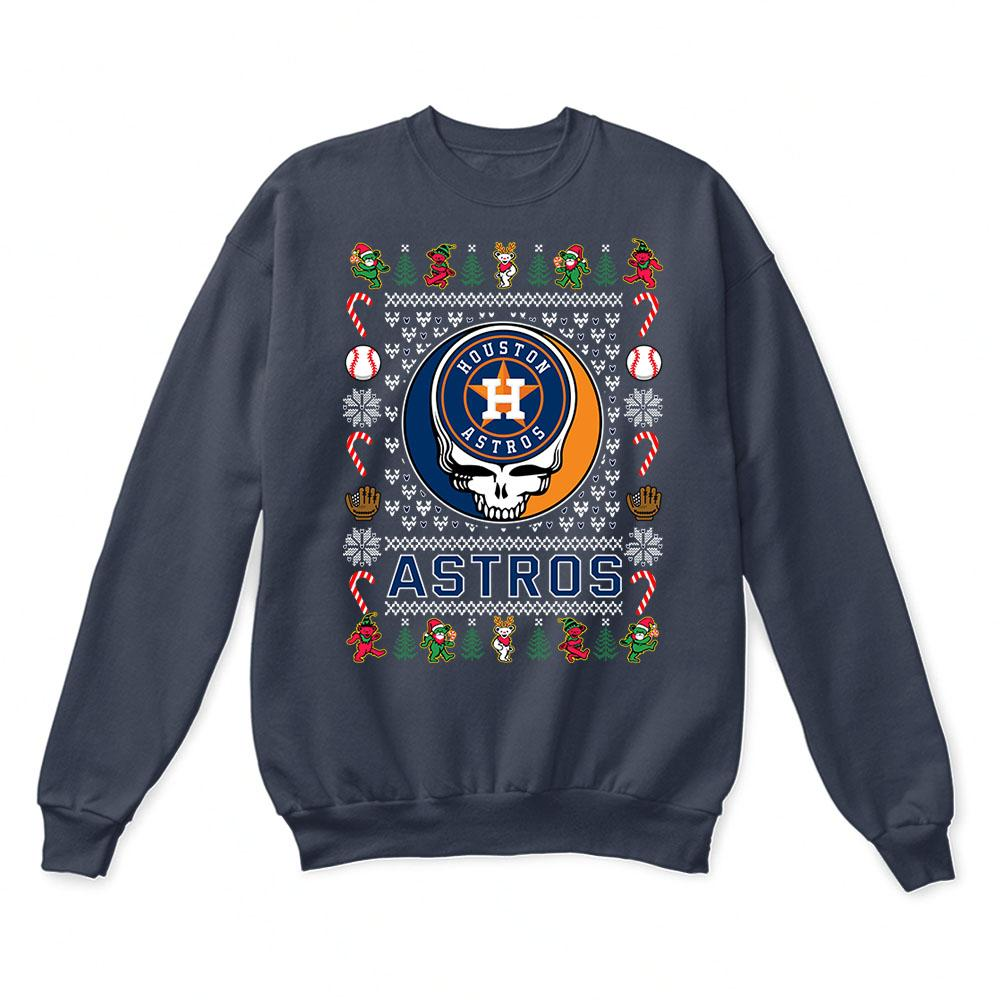 Houston Astros x Grateful Dead Christmas Ugly Sweater 3