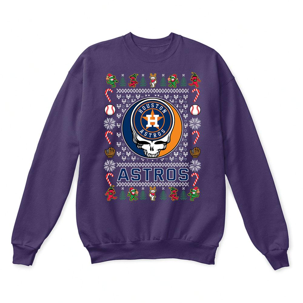 Houston Astros x Grateful Dead Christmas Ugly Sweater 4