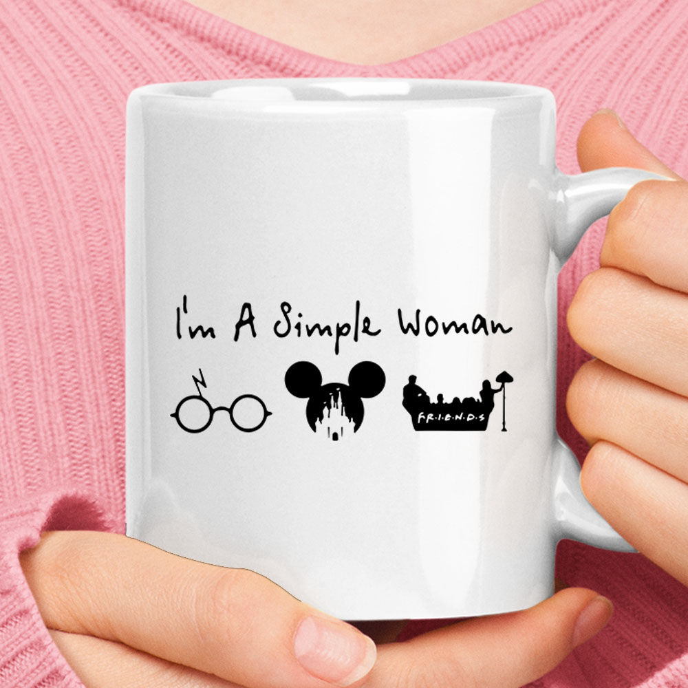 I'm A Simple Woman Loves Harry Potter Disney FRIENDS Mug 1