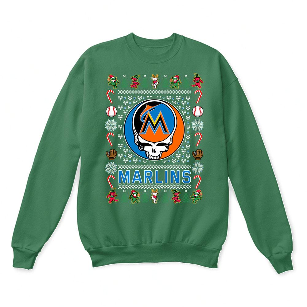 Miami Marlins x Grateful Dead Christmas Ugly Sweater 2
