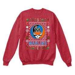 Miami Marlins x Grateful Dead Christmas Ugly Sweater 11