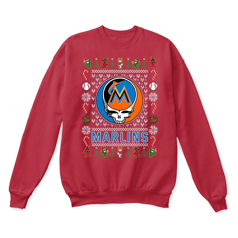 Miami Marlins x Grateful Dead Christmas Ugly Sweater 5