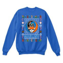 Miami Marlins x Grateful Dead Christmas Ugly Sweater 12