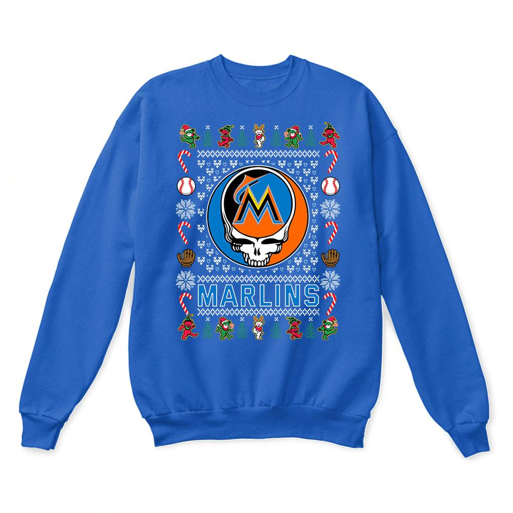 Miami Marlins x Grateful Dead Christmas Ugly Sweater 6
