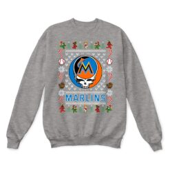 Miami Marlins x Grateful Dead Christmas Ugly Sweater 13