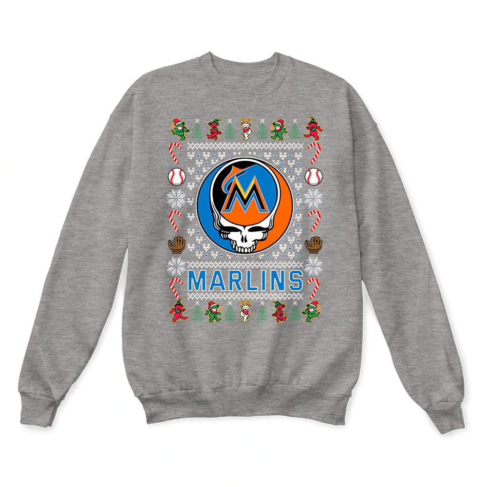 Miami Marlins x Grateful Dead Christmas Ugly Sweater 7