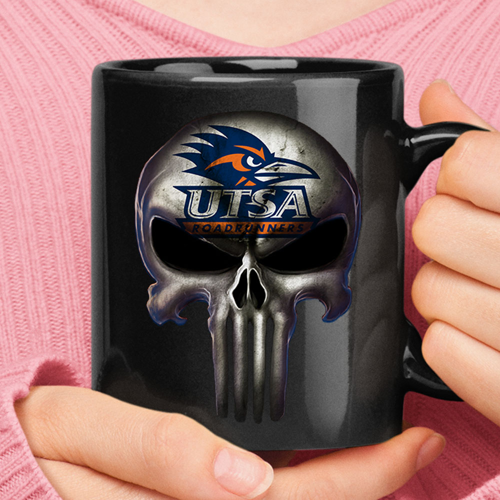 UTSA Roadrunners The Punisher Mashup NCAA Football Mug 1