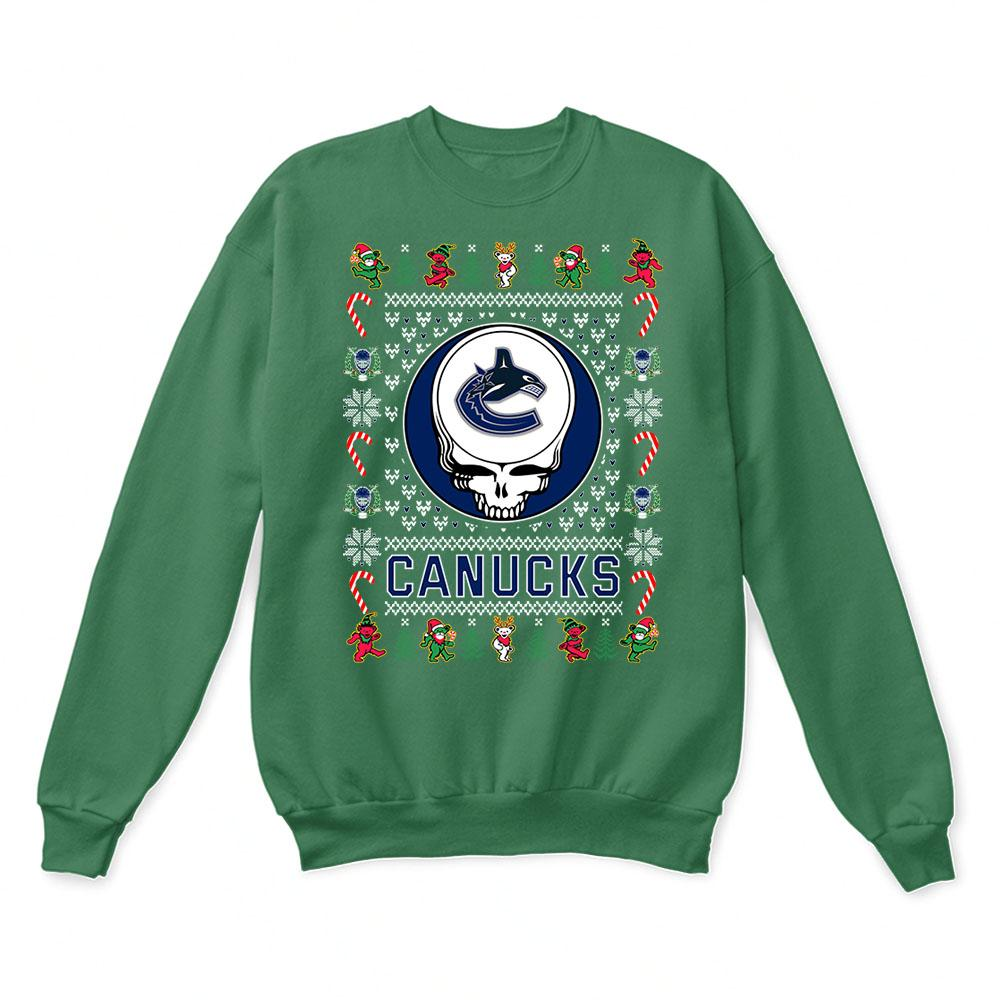 Vancouver Canucks x Grateful Dead Christmas Ugly Sweater 2