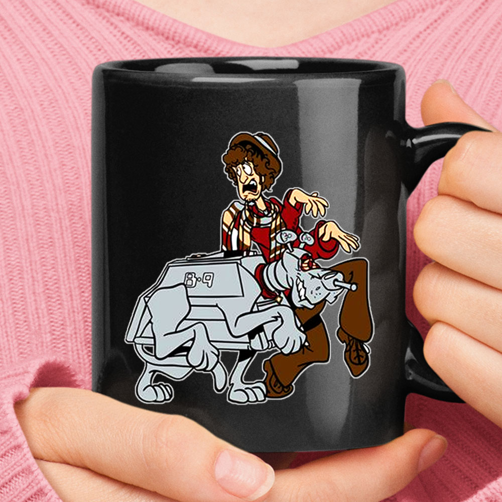 4th Doctor And Robotic Dog K9 Scooby Doo Doctor Who Mug 1