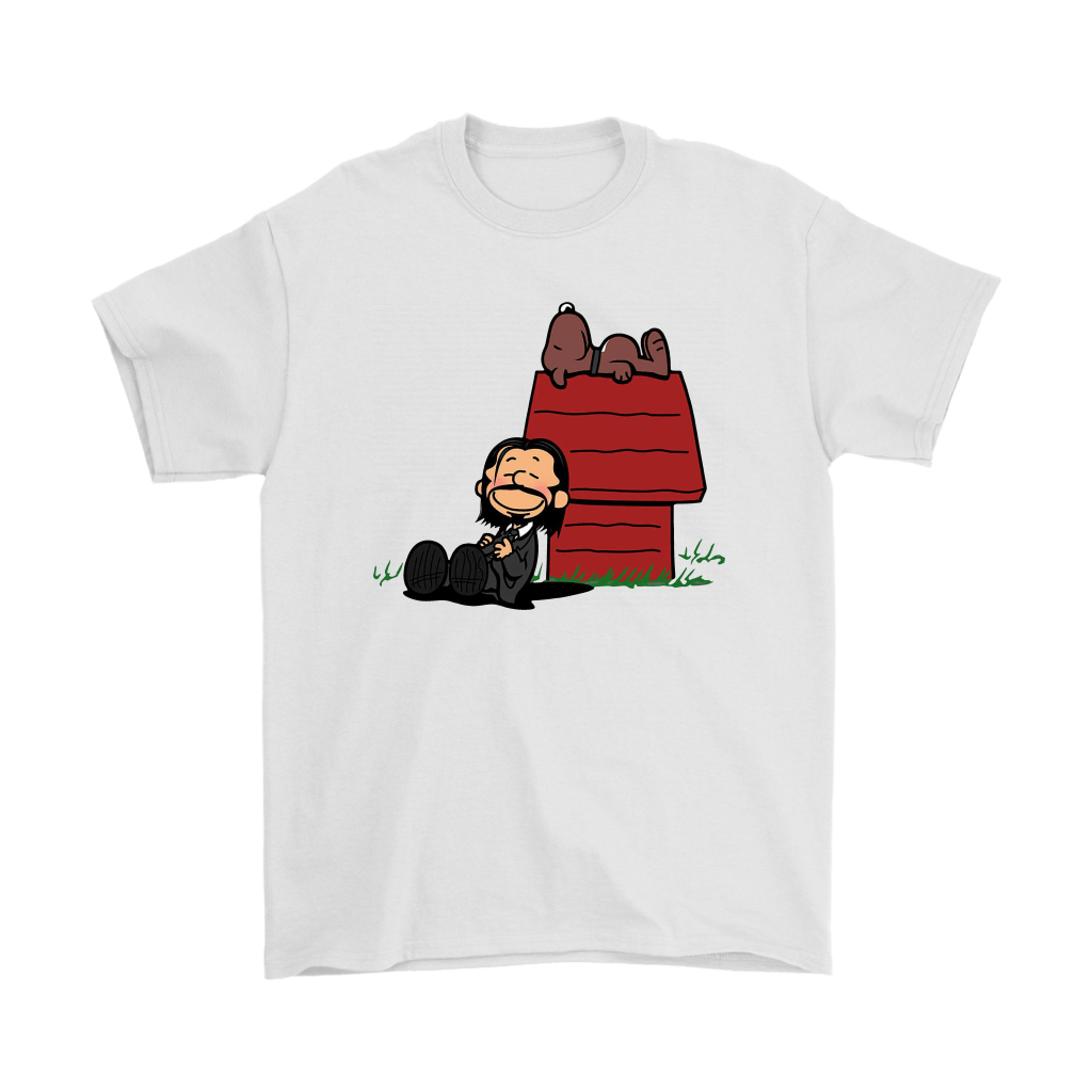 John Wick Charlie Brown And Snoopy Resting By The Dog House Shirts 7