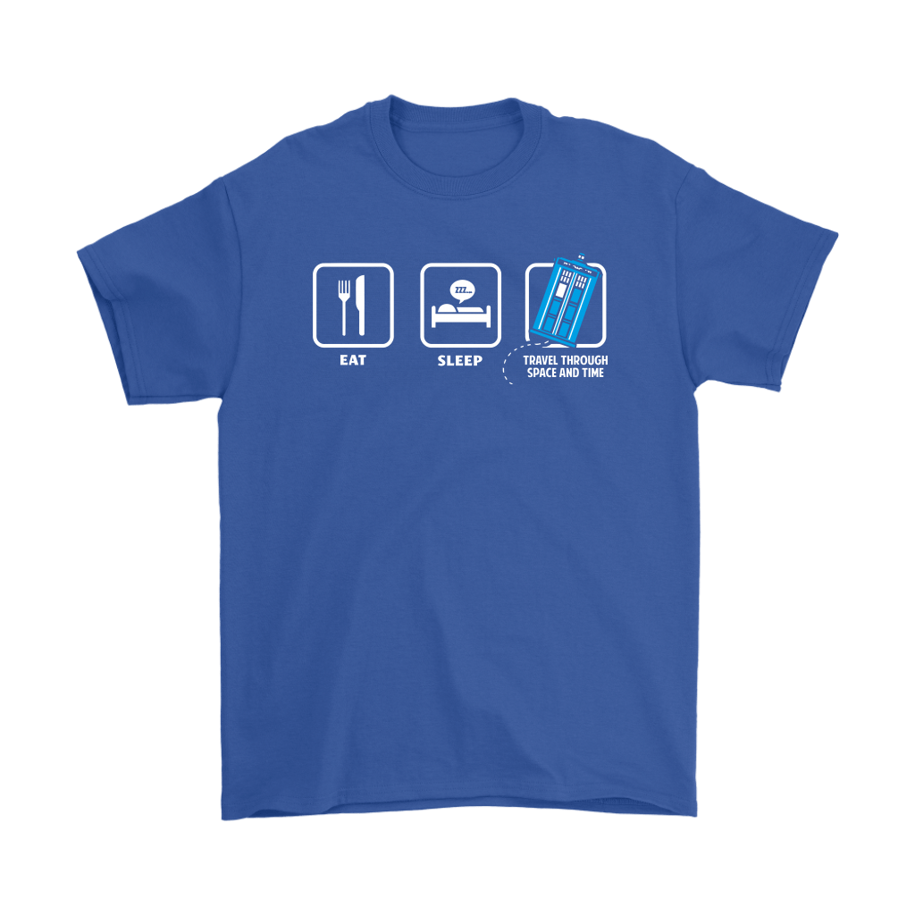 Eat Sleep Travel Through Space And Time Doctor Who Shirts 5