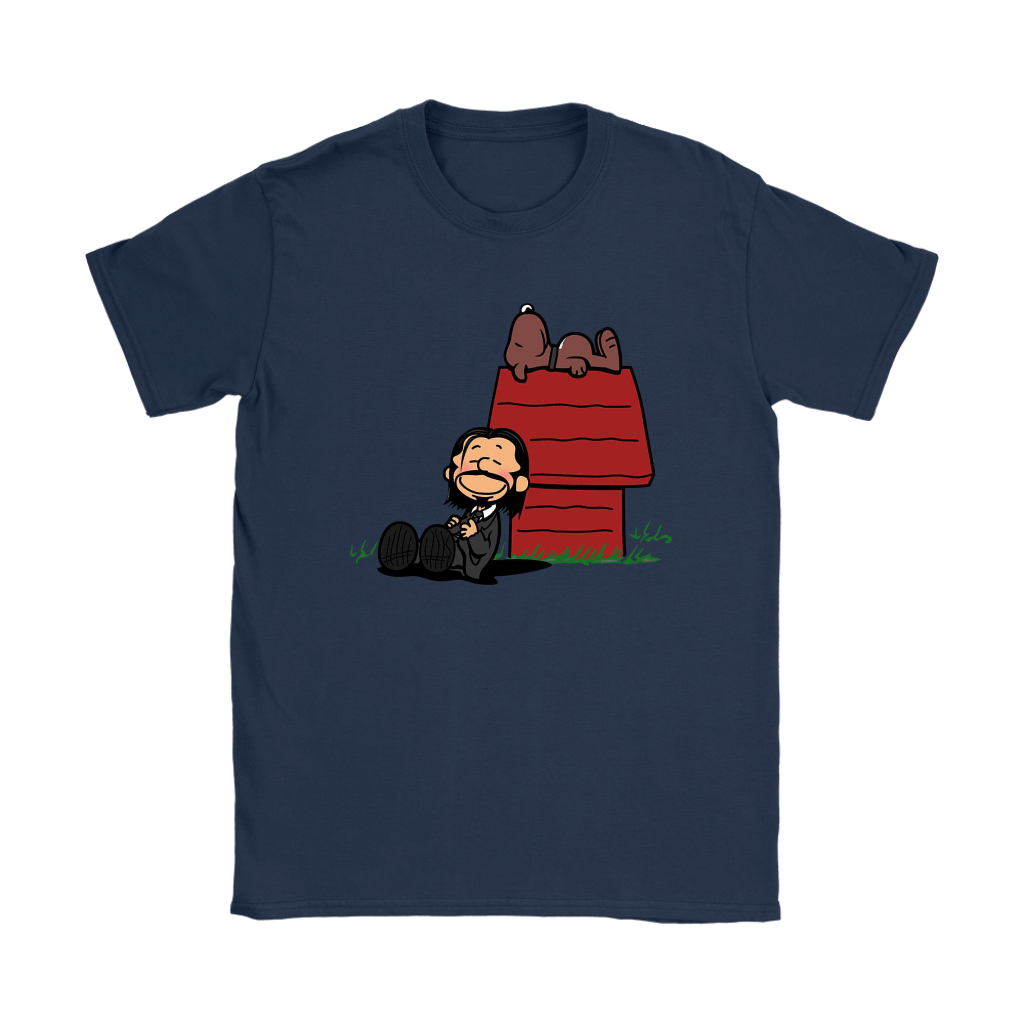 John Wick Charlie Brown And Snoopy Resting By The Dog House Shirts 10