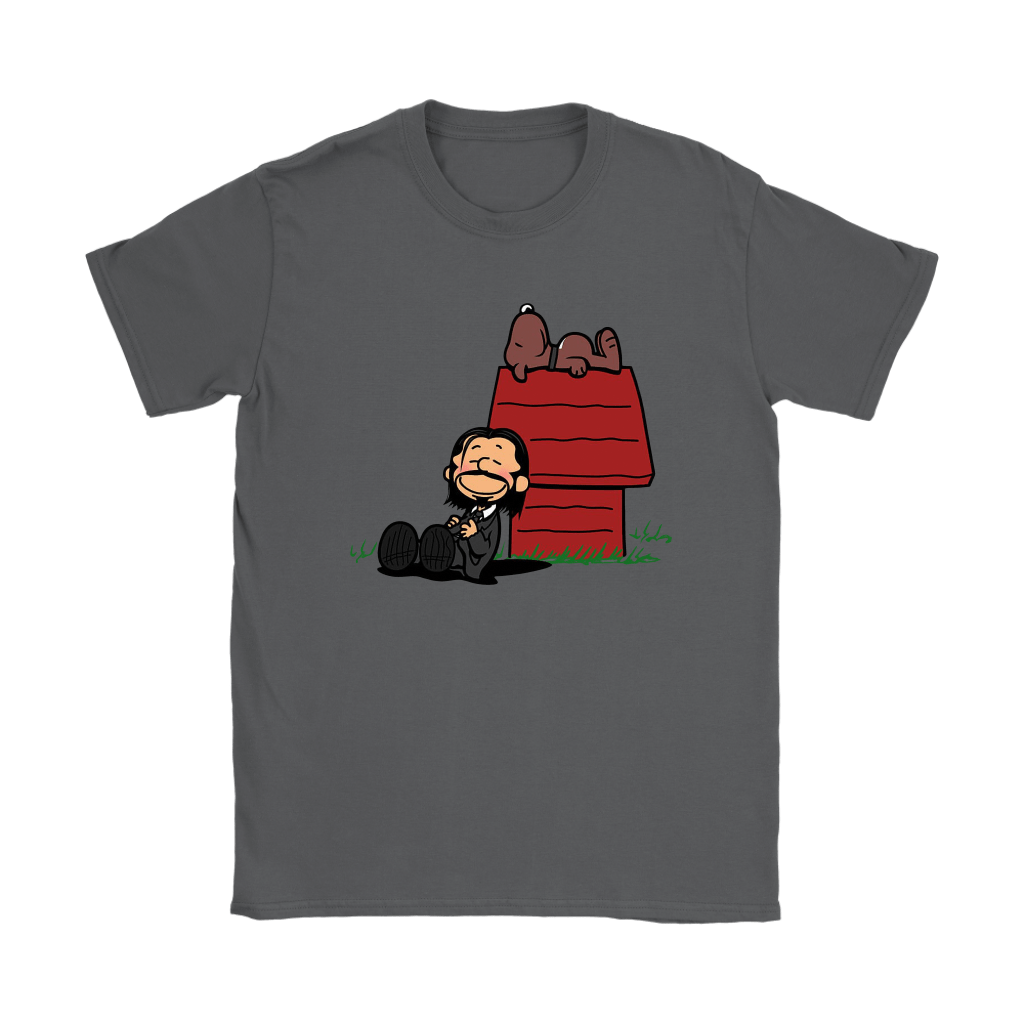 John Wick Charlie Brown And Snoopy Resting By The Dog House Shirts 9