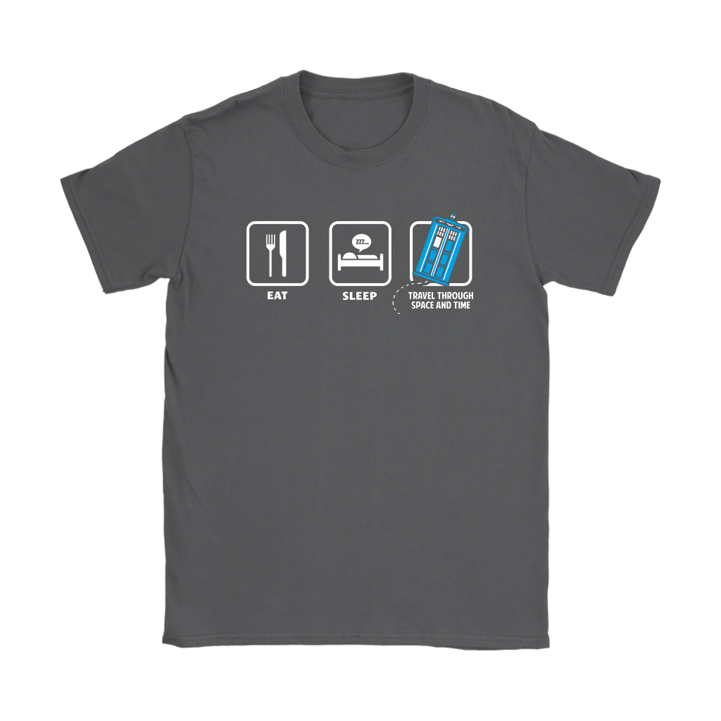 Eat Sleep Travel Through Space And Time Doctor Who Shirts 7