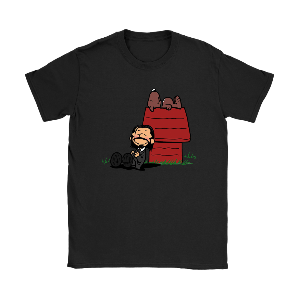 John Wick Charlie Brown And Snoopy Resting By The Dog House Shirts 8