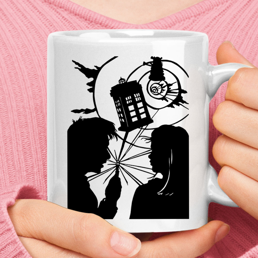 Doctor Who Travel Through Time And Space Shadow Mug 1