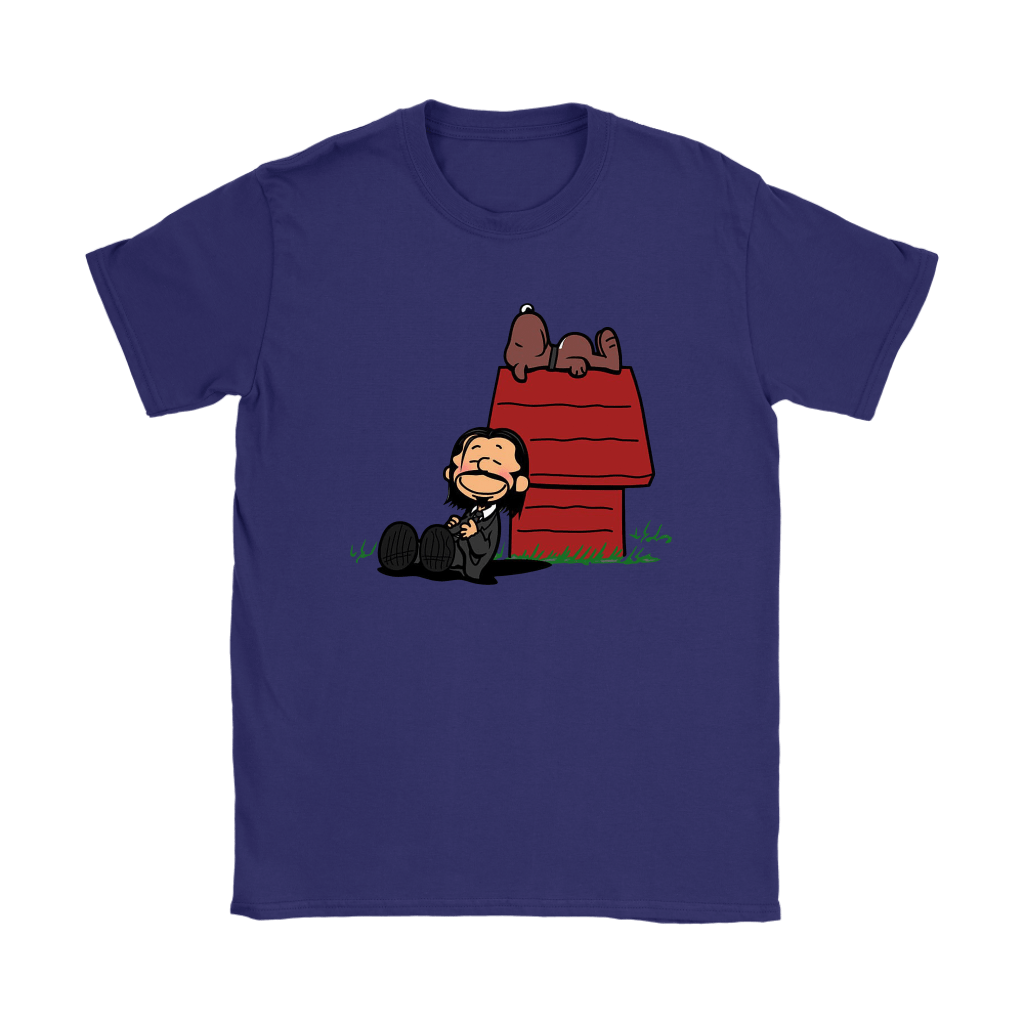 John Wick Charlie Brown And Snoopy Resting By The Dog House Shirts 11