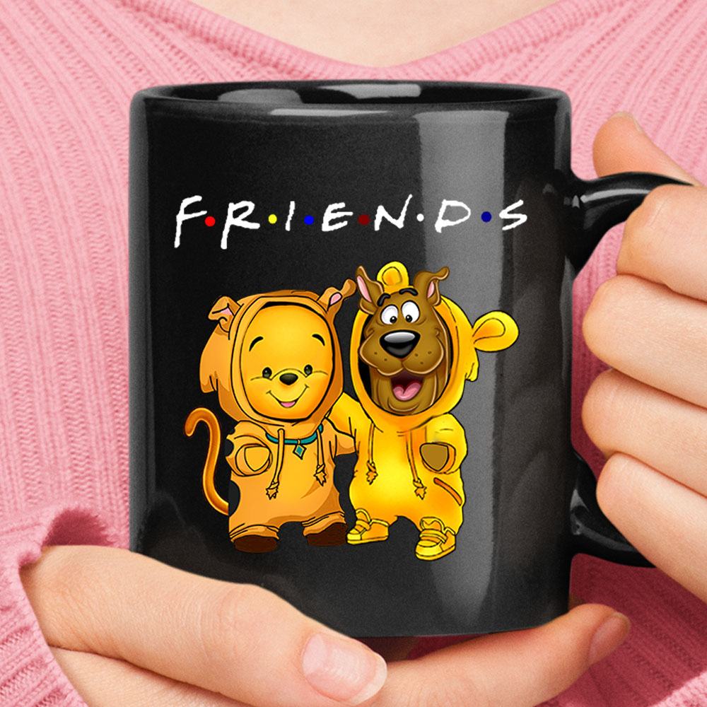 Winnie The Pooh And Scooby Doo Costumes Exchange FRIENDS Mug 1
