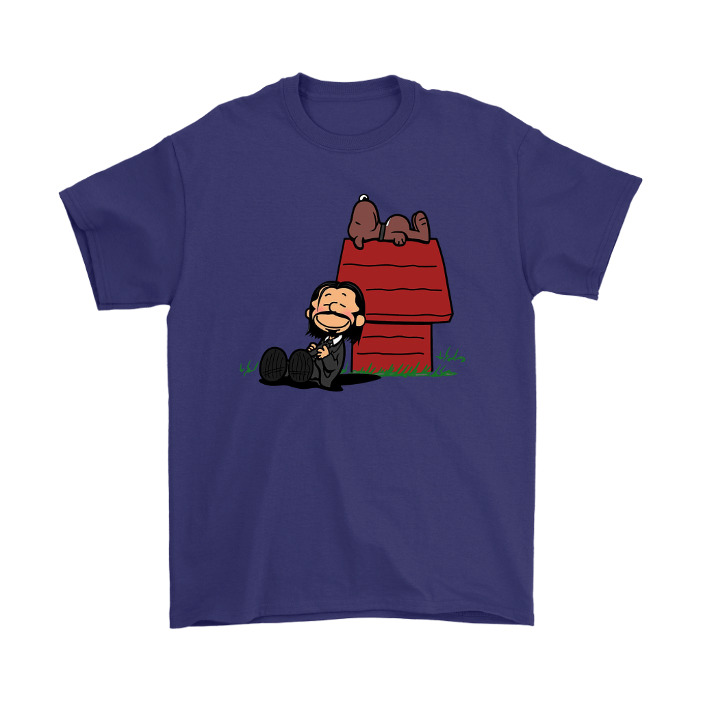 John Wick Charlie Brown And Snoopy Resting By The Dog House Shirts 4