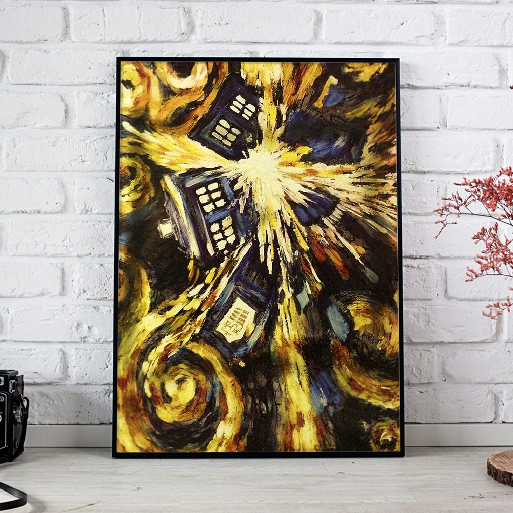 The Doctors Gathering Doctor Who Oil Canvas Style Posters 1