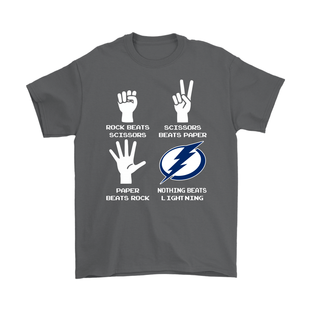 Rock Paper Scissors Nothing Beats The Tampa Bay Lightning Shirts 2