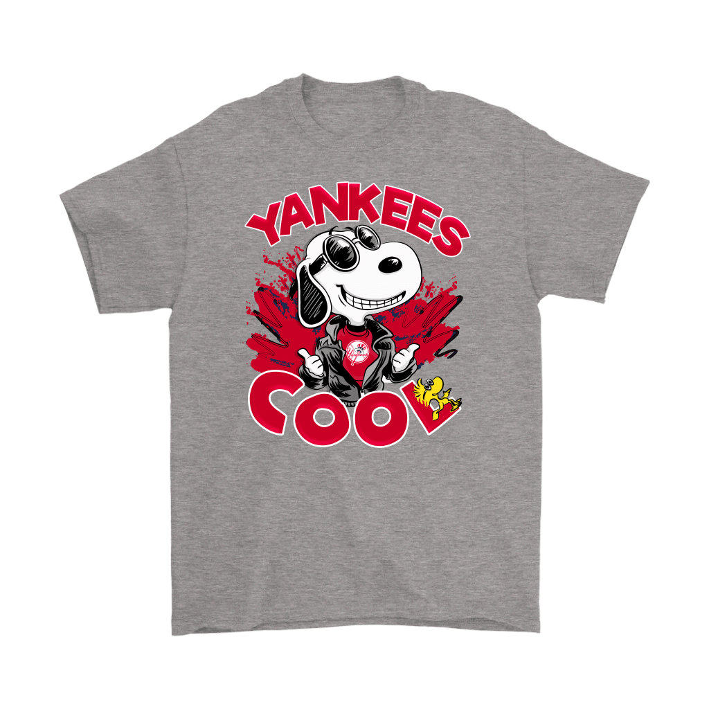 New York Yankees Snoopy Joe Cool We're Awesome Shirts 7