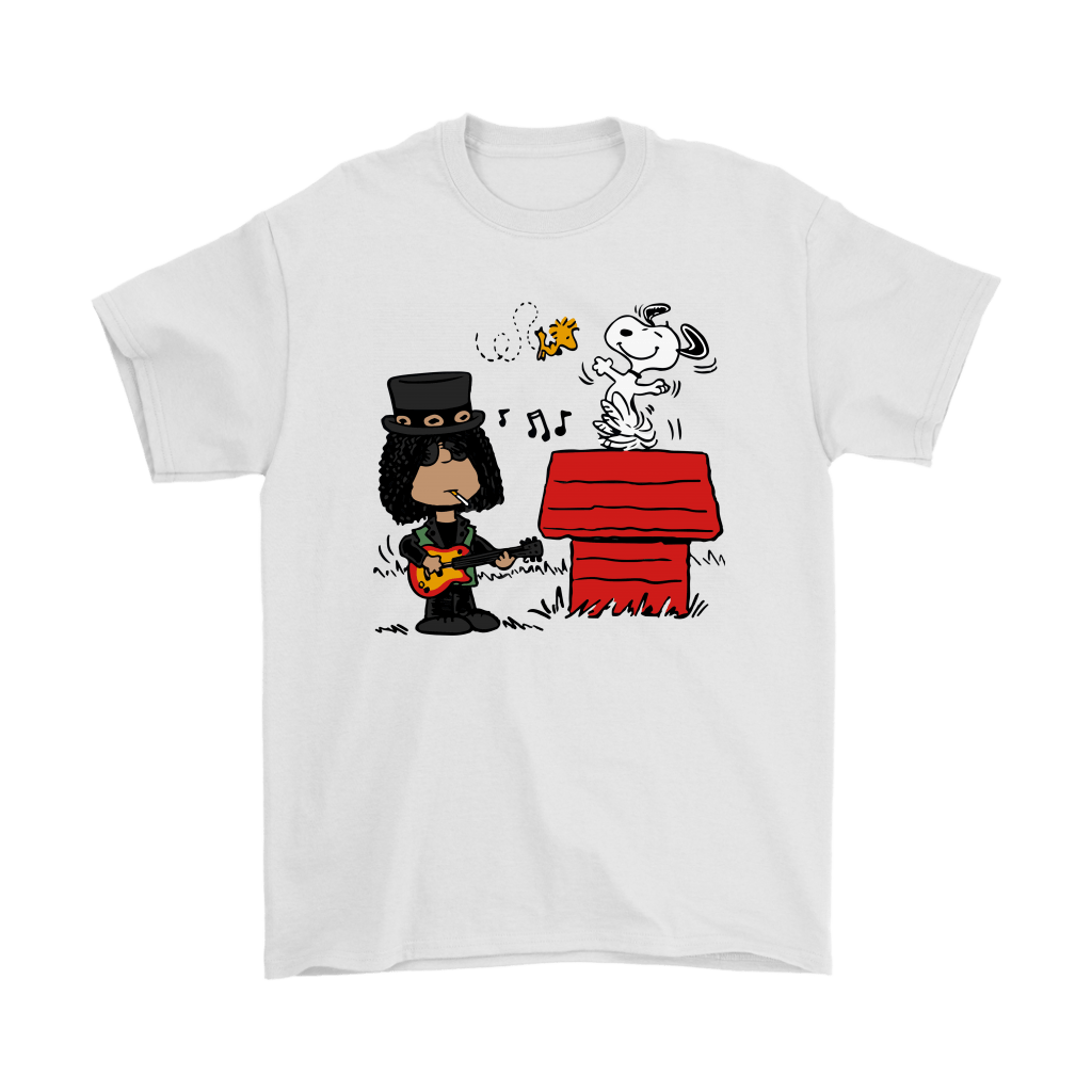 Saul Hudson Slash Together With Snoopy And Woodstock Shirts 1