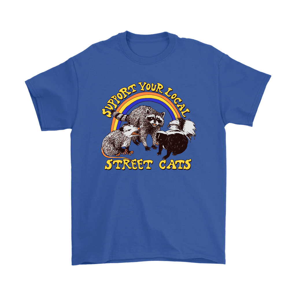 Support Your Local Street Cats Trash Panda Skunk Wild Animal Shirts 5